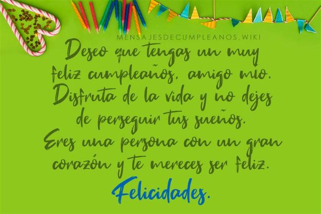 Frases De Cumpleaños Para Un Amigo 100 Mensajes2019