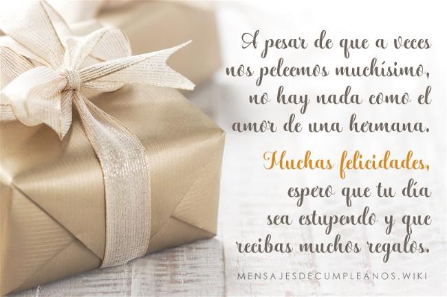 Frases De Cumpleaños Para Una Hermana 100 Mensajes2019