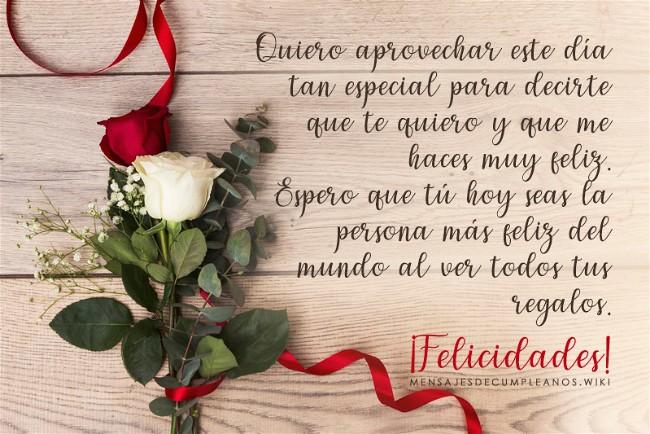 Frases De Cumpleaños Para Un Amor 100 Mensajes2019