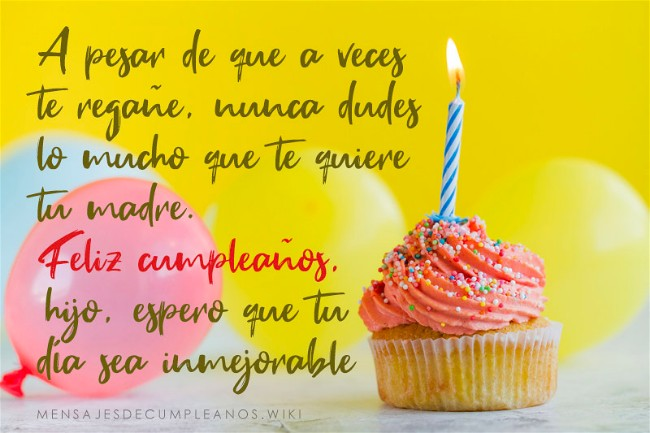 Frases De Cumpleaños Para Un Hijo 100 Felicitaciones