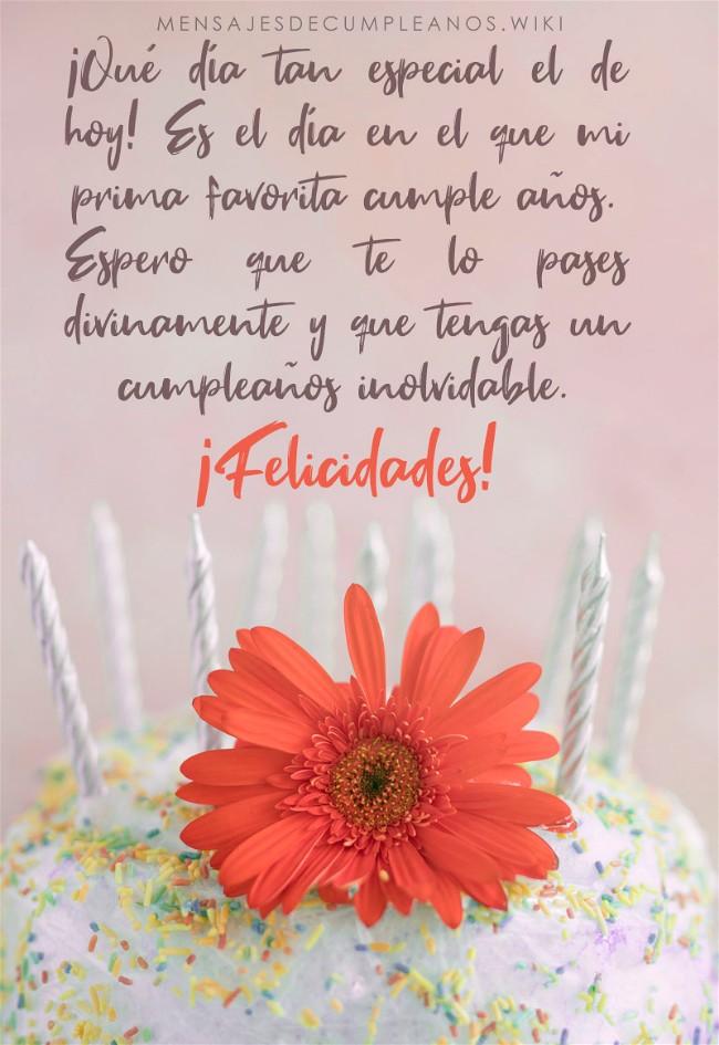 Frases De Cumpleaños Para Una Prima 100 Mensajes 2019