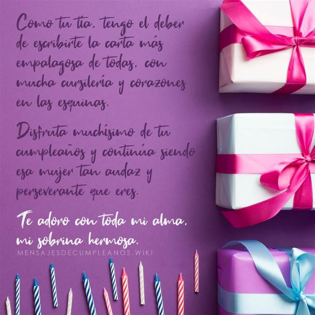 Frases De Cumpleaños Para Una Sobrina 100 Mensajes 2019